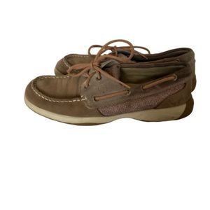 Sperry top sider size 7 rose gold boat shoes